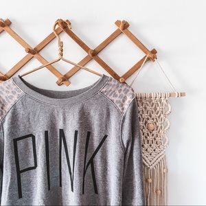 PINK victoria's secret • cheetah & gray sweatshirt